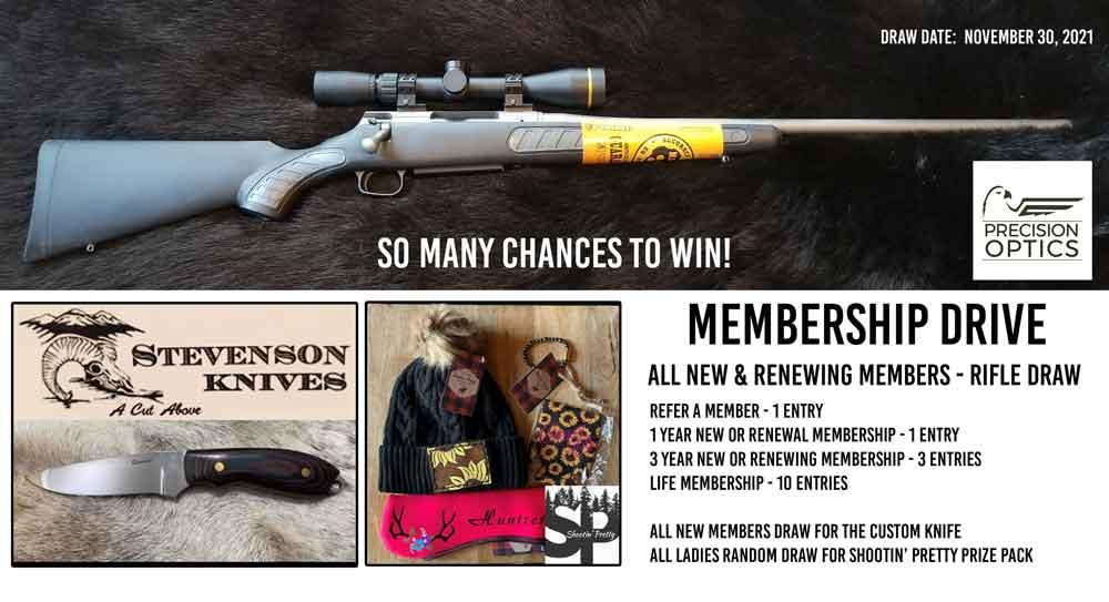 hunters for bc SCI membership drive